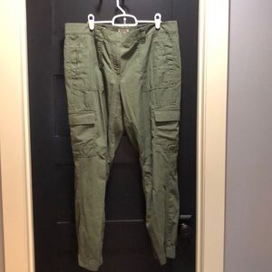 Olive Green Loft Outlet Cargo Joggers Size 12